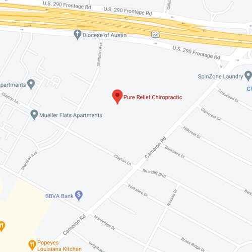 Pure Relief Chiropractic Map